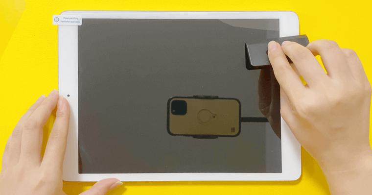 NIMASO ペーパーライクフィルム貼り付け フィルム手順4