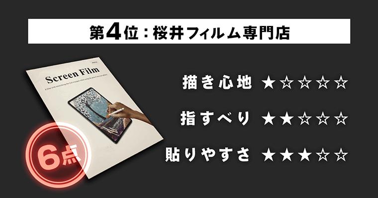 第4位 【桜井フィルム専門店】ペーパーライク フィルム