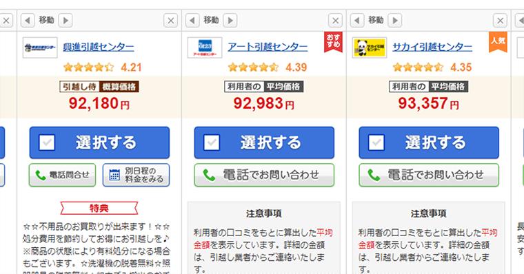 WEBの結果と実際の見積りは異なる