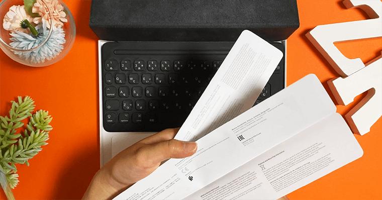Smart Keyboard スマートキーボード 同梱物