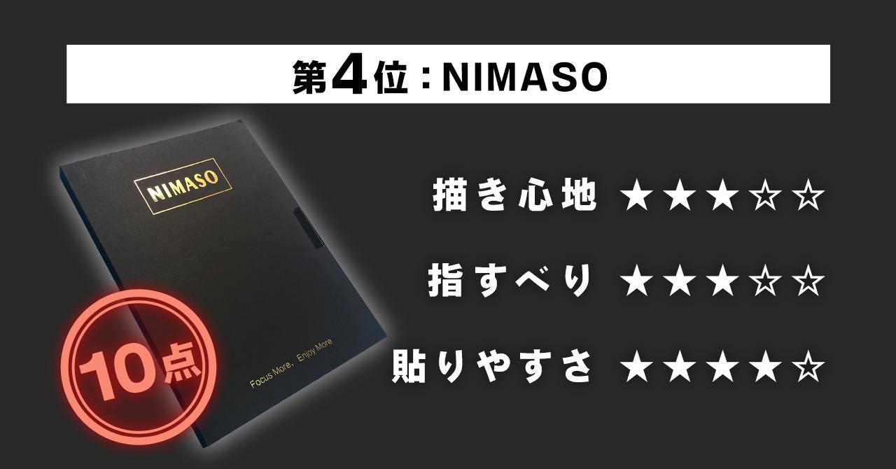 第4位 【NIMASO】ペーパーライク フィルム