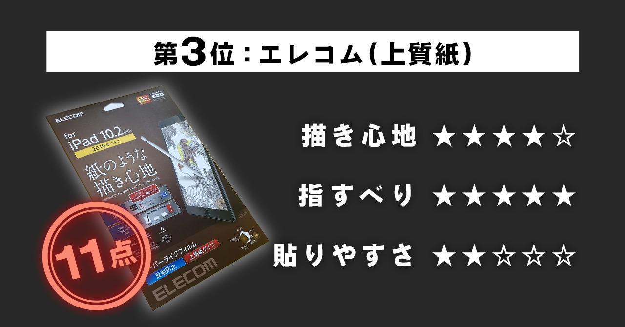第3位 【エレコム】ペーパーライク フィルム(上質紙タイプ)