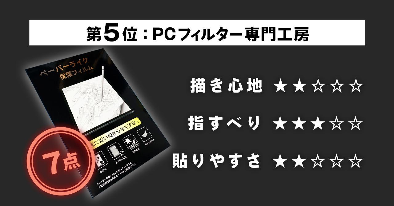 第5位 【PCフィルター専門工房】ペーパーライク フィルム